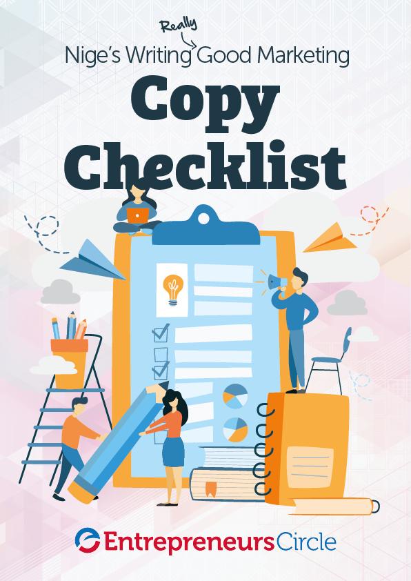 Nige's Writing Really Good Marketing Copy Checklist