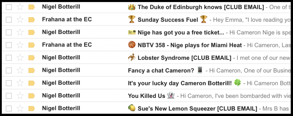 Emojis in Email Subject Line