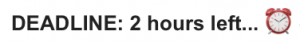 Alarm Clock Emoji in a Subject Line